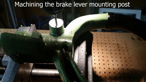 12 Machining the brake lever mounting post