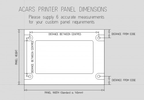 ACARS printer panel measurements
